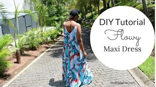 DIY Flowy Maxi Dress Tutorial