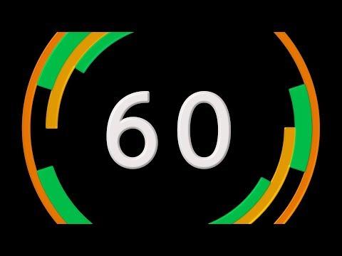 COUNTDOWN TIMER ( v 663 ) 60 sec Audio Visualizer VAR 1