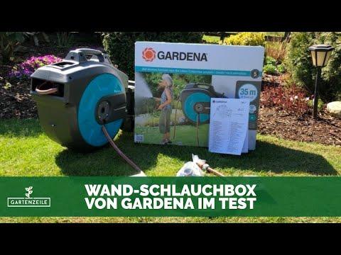 GARDENA Wand-Schlauchbox 35 roll-up automatic Li mit Akku im Test