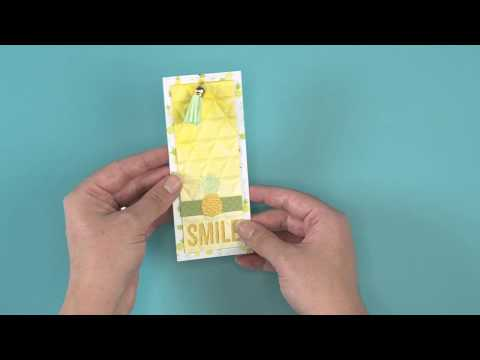 DIY Pineapple Tag | Sizzix