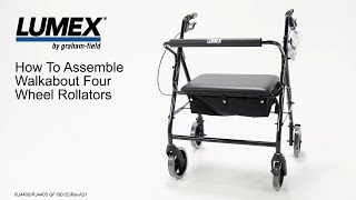 Lumex® How to Assemble Walkabout Four Wheel Rollators Youtube Video Link