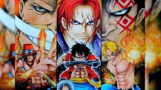 ONE PIECE FANART! Ace, Sabo, Luffy Complete Speed Drawing