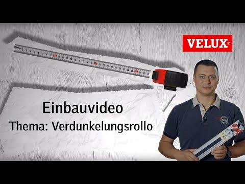 Einbau DKL Verdunkelungsrollo   VELUX Sonnenschutz