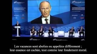 Vladimir Poutine : « La plupart des pays Euro-Atlantistes renient leurs principes moraux »