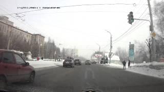 Момент ДТП на ул. Ленина у ипподрома (Ижевск)