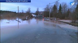 Наиболее сложная ситуация с паводком складывается в Любытинском районе