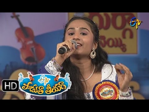 Godari-Gattundi-Song--Manu-Sri-Performance-in-ETV-Padutha-Theeyaga--4th-April-2016