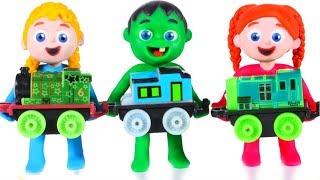 Kids Built A Toy Train ❤ Cartoons For Kids