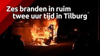 Zes branden in korte tijd in wijk Oud-Noord in Tilburg