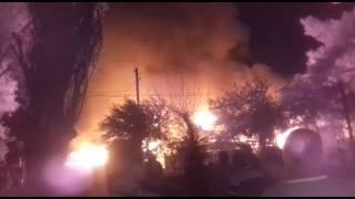 Крупный пожар произошел в селе Туздыбастау