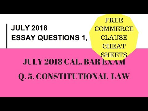 Commerce Clause, July 2018 Cal Bar Exam & Cheat Sheets ...
