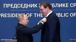 Карлик Путин и гигант Вучич. Это какой-то позор!