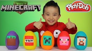 Minecraft Play-Doh Surprise Eggs Opening Fun With Ckn Toys
