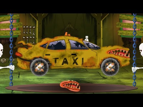 Taxi Car Garage | Halloween Car Video For Preschool Kids By Kids Channel