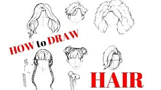 How To Draw Hair!~ An Updated Tutorial!