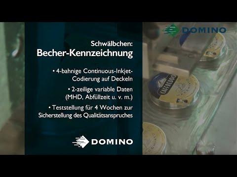 Zuverlässige Becherbeschriftung dank Domino A520i Inkjet-Codierer bei Schwälbchen