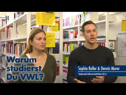 Thumbnail YouTube Video mit Foto der Studierenden und der Frage: Warum studiert Ihr VWL?