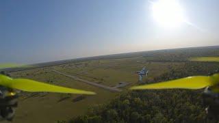 FPV drone chasing RC plane (EDF jet)