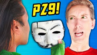 PZ9 FACE REVEAL UNMASKING Finds Clue Under Beard! Extreme Hide and Seek Challenge vs New Hacker