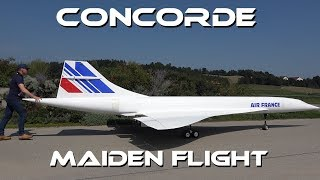 GIGANTIC 10 METER LARGE RC CONCORDE - MAIDEN FLIGHT