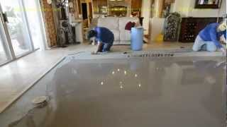 "Super Flat Concrete Leveling With The DustRam™ System:  1/16"" Flat In 50 Linear Feet!"