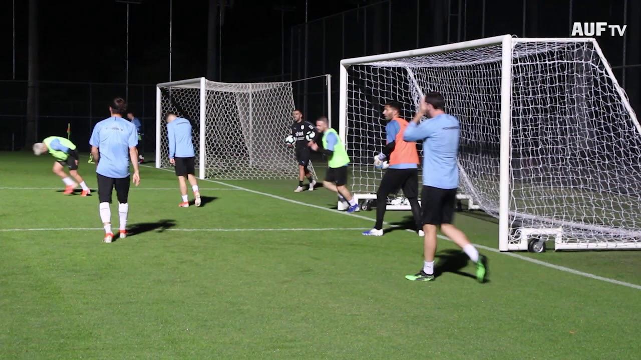 Primer entrenamiento en Belo Horizonte