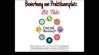 Bewerbung Schreiben B2 Praktikum Free Online Videos Best Movies Tv