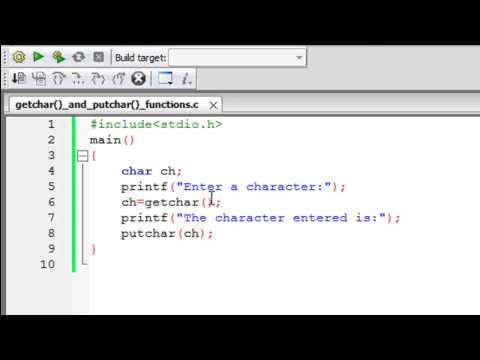 C Programming Tutorial – 66: The getchar() and putchar() Functions