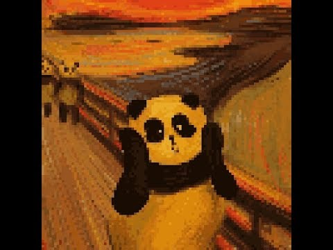 Coloring Pixel Art Edvard Munch S The Scream Panda Version