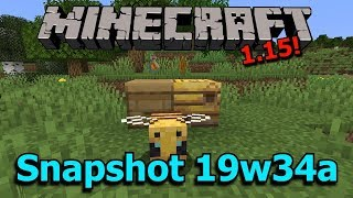 Minecraft 1.15 Snapshot 19w43a- Bees! Bee Hives! Dispenser Changes!