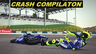 MotoGP Mod 2018 |  Crashes Compilation | #MalaysianGP | TV REPLAY PC GAME