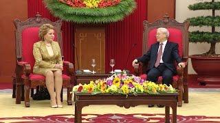 Tổng Bí thư Nguyễn Phú Trọng tiếp Chủ tịch Hội đồng Liên bang Thượng viện Nga