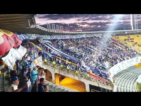 """Está campaña volveré a estar contigo - MILLONARIOS 2 vs chico 1"" Barra: Blue Rain • Club: Millonarios"