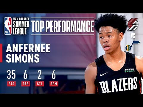 Anfernee Simons Catches Fire and Drops 35 Points (6-7 3PT FG) For Portland   July 92019