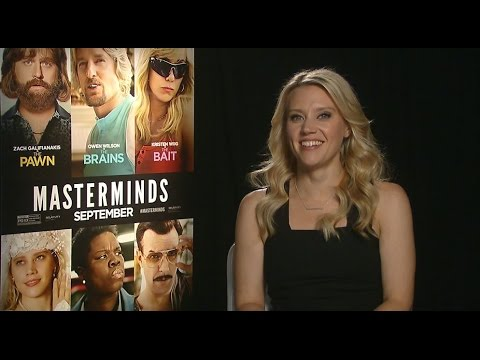 Hilarious KATE McKINNON INTERVIEW! MASTERMINDS MOVIE, WALMART, SNL, HILARY, TRUMP & MORE!