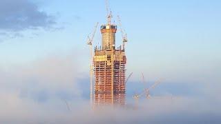 Лахта центр. Что делали строители в августе 2016?