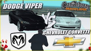 DODGE VIPER SRT-10 vs CHEVROLET CORVETTE C6 Z06! (SAMP | TRINITY RP)