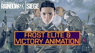 Rainbow Six Siege: Frost Elite Skin and Victory Celebration!