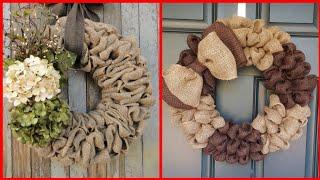 100 Most Beautiful Burlap Wreath Decorations  Ideas