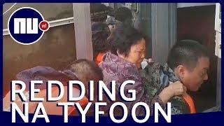 Overlevenden gered in overstroomd gebied China na tyfoon Lekima   NU.nl