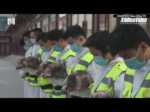 Wuhan pauses in silence to mourn lives lost to coronavirus