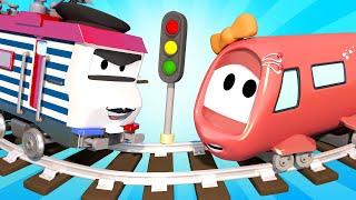 Vláčky pro děti - Dobíjecí vlak - Vláček Troy ve Městě Aut