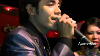 Chhorn Sovannareach & Sambath sing  a duet Cha Cha Cha w/ Kolab Dontrey Band in San Diego, CA