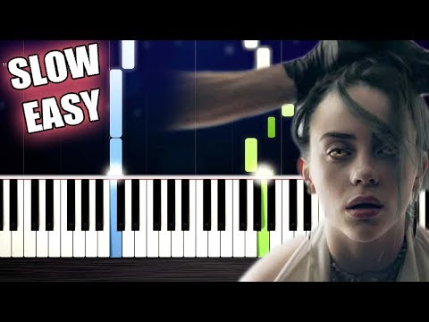 Billie Eilish - bury a friend - SLOW EASY Piano Tutorial by PlutaX