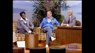 Don Rickles gives Lou Brock baseball tips on The Tonight Show Starring Johnny Carson - 09/01/1977