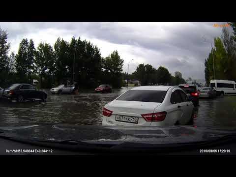 Mitsubishi Pajero Sport 3 Потоп в Тольятти видео