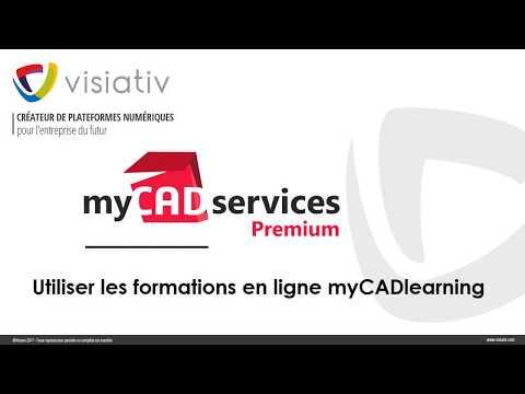Utiliser les formations en ligne myCADlearning