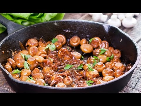 Video Sauteed Mushrooms with Caramelized Onion Recipe