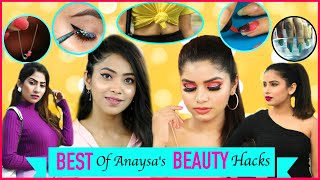 """By sitting at home level up your beauty. Today we gonna share with you some amazing BEAUTY HACKS that will help you to solve a lot of your daily problems and help you to look more gorgeous & beautiful and in lockdown support everyone by staying home and enjoy the video.  You'll also have fun watching this video. If So do hit huge LIKE and SHARE this video as much as you can.  CREDITS :- Creative Head: Shruti Anand Editor- Shubham Verma Models - Anishka Khantwaal, Bharti Singh, JeetuShree, Anku Sharma.  ~ Love ♥ Anaysa ♥   NEW UPLOADS every Friday @5:30 pm  AUDIO DISCLAIMER/CREDITS – """"Music from Epidemic Sound (http://www.epidemicsound.com)"""""""