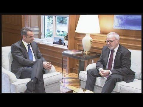 Συνάντηση του Πρωθυπουργού Κυριάκου Μητσοτάκη με τον πρόεδρο της ΕΤΕπ Βέρνερ Χόγιερ